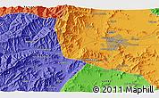 Political 3D Map of Kabul