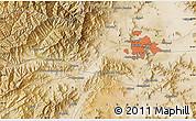 Satellite Map of Kabul