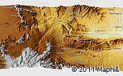 Physical 3D Map of Tālow Khēl