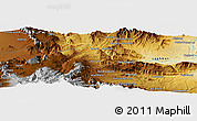 Physical Panoramic Map of Tālow Khēl