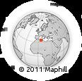 Outline Map of Ain Naga, rectangular outline