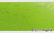 """Physical 3D Map of the area around 34°28'56""""N,6°52'30""""E"""