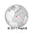 """Outline Map of the Area around 34° 28' 56"""" N, 6° 52' 30"""" E, rectangular outline"""