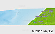 "Physical Panoramic Map of the area around 34° 28' 56"" N, 6° 43' 29"" W"