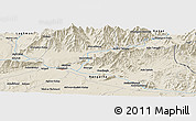 Shaded Relief Panoramic Map of Mehtar Lām
