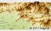 """Physical 3D Map of the area around 34°28'56""""N,72°19'29""""E"""