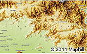 """Physical Map of the area around 34°28'56""""N,72°19'29""""E"""