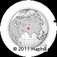 Outline Map of Dargai Bazar, rectangular outline