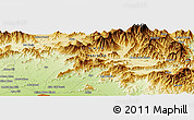 """Physical Panoramic Map of the area around 34°28'56""""N,72°19'29""""E"""