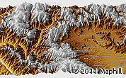 """Physical 3D Map of the area around 34°28'56""""N,74°1'30""""E"""