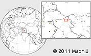 Blank Location Map of Satti