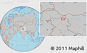Gray Location Map of Satti