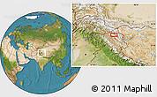 Satellite Location Map of Satti