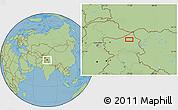 Savanna Style Location Map of Satti