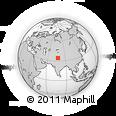 Outline Map of Deshkit, rectangular outline