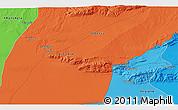 Political 3D Map of 'Aïn Mdila