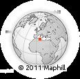 Outline Map of Sidi Salem, rectangular outline