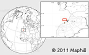 """Blank Location Map of the area around 34°28'56""""N,7°34'30""""W"""