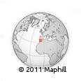 """Outline Map of the Area around 34° 28' 56"""" N, 7° 34' 30"""" W, rectangular outline"""