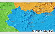 Political 3D Map of Saïda