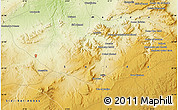 """Physical Map of the area around 34°56'49""""N,0°4'30""""E"""