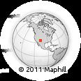 Outline Map of Albuquerque, rectangular outline