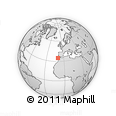 """Outline Map of the Area around 34° 56' 49"""" N, 10° 7' 30"""" W, rectangular outline"""