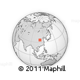 Outline Map of Sanmenxia, rectangular outline