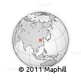 Outline Map of Gongyi, rectangular outline