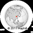 Outline Map of Zhengzhou, rectangular outline