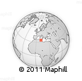 Outline Map of Sfax, rectangular outline