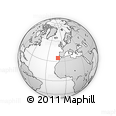 """Outline Map of the Area around 34° 56' 49"""" N, 11° 49' 29"""" W, rectangular outline"""