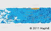 Political Panoramic Map of Kwangju