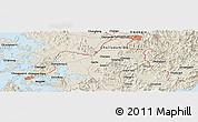Shaded Relief Panoramic Map of Kwangju