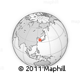 """Outline Map of the Area around 34° 56' 49"""" N, 127° 34' 30"""" E, rectangular outline"""