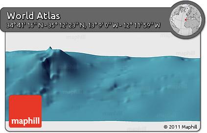 "Satellite Panoramic Map of the Area around 34°56'49""N,12°40'30""W"