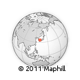 """Outline Map of the Area around 34° 56' 49"""" N, 130° 58' 29"""" E, rectangular outline"""
