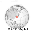 """Outline Map of the Area around 34° 56' 49"""" N, 131° 49' 29"""" E, rectangular outline"""