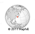 """Outline Map of the Area around 34° 56' 49"""" N, 132° 40' 30"""" E, rectangular outline"""