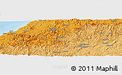 """Political Panoramic Map of the area around 34°56'49""""N,132°40'30""""E"""