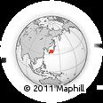 Outline Map of Ashiya, rectangular outline
