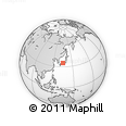 Outline Map of Okuikecho, rectangular outline