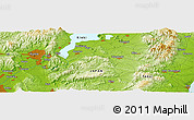 """Physical Panoramic Map of the area around 34°56'49""""N,136°4'29""""E"""