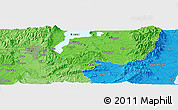 """Political Panoramic Map of the area around 34°56'49""""N,136°4'29""""E"""