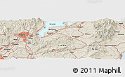 """Shaded Relief Panoramic Map of the area around 34°56'49""""N,136°4'29""""E"""