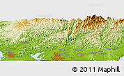"""Physical Panoramic Map of the area around 34°56'49""""N,137°46'30""""E"""