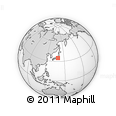 """Outline Map of the Area around 34° 56' 49"""" N, 139° 28' 29"""" E, rectangular outline"""