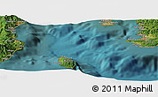 "Satellite Panoramic Map of the area around 34°56'49""N,139°28'29""E"