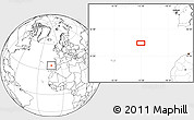"""Blank Location Map of the area around 34°56'49""""N,13°31'30""""W"""