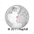 """Outline Map of the Area around 34° 56' 49"""" N, 13° 31' 30"""" W, rectangular outline"""